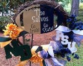 Penn State/Notre Dame House Divided Wreath