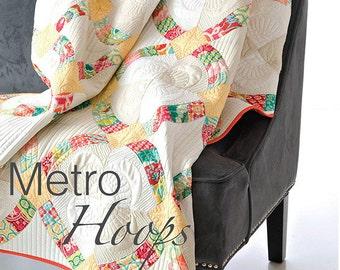 "Metro Hoops Quilt Pattern - 60"" x 75"" - Sew Kind of Wonderful - SKW403"