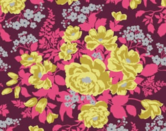 """Heirloom by Joel Dewberry - Rose Bouquet in Garnet  - Home Decor Sateen - 54"""" wide - 1 yard, Additional available"""