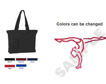 Custom Embroidered Gymnastics Tote Bag - Personalized