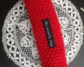 Baby Hangers, Padded Children's Hanger, UK Seller, Knitted Hanger, Baby Shower, Red