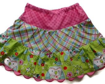 Owl Twirl Skirt, Toddler Skirt, Girls Skirts, Little Girl Skirts, Owl Skirt, Girls Clothing, Toddler Clothing, Toddler Owl Skirt,