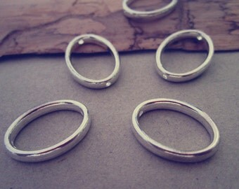 20pcs Silver color oval circle Jump Ring Link 14mmx 19mm