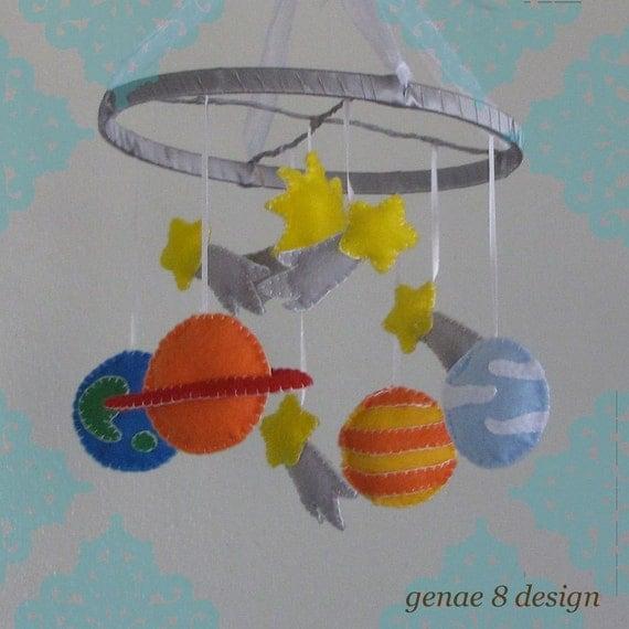 Felt Planet Mobile Felt Solar System Baby Mobile