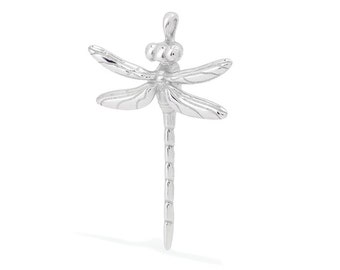 Dragonfly pendant in sterling silver. Australian made and hand crafted solid sterling silver jewellery.
