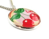 Cherry Girls Childrens Personalized Pendant Necklace Pendant Gift