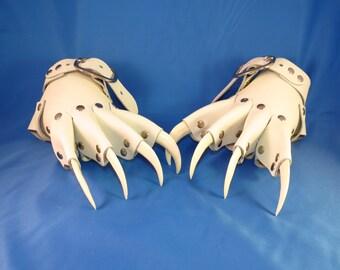 White Wedding Claws Gauntlets / Gloves Gothic Steampunk BDSM Renaissance