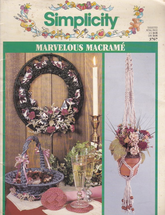1990S Craft Magazine On Marvelous Macrame By Simplicity-1393