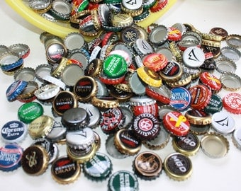 Two full pounds of Recycled Bottle Caps  / Project crafting / Multi Colored Bottle Caps