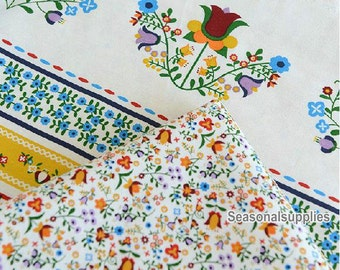 Half yard Cotton Linen Fabric,Flower Pattern, Two Style for choice (QT280)
