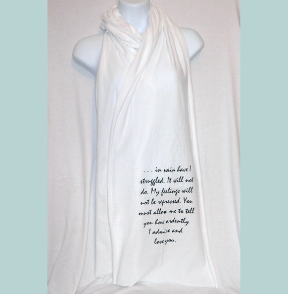 "Wuthering Heights Scarf ""Be With Me Always ..."" Heathcliff Quote, Book Scarf, Emily Bronte, Literary Scarf, UK - missbohemia"