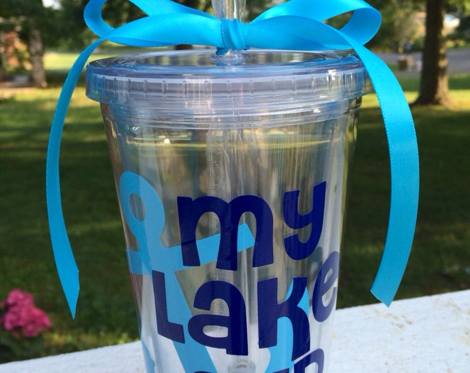 My Lake Cup Tumbler 16 oz Acrylic Tumbler Lake Cup Personalized Cup Nautical Anchor Cup Lake Tumbler Summer Gift Everything Else