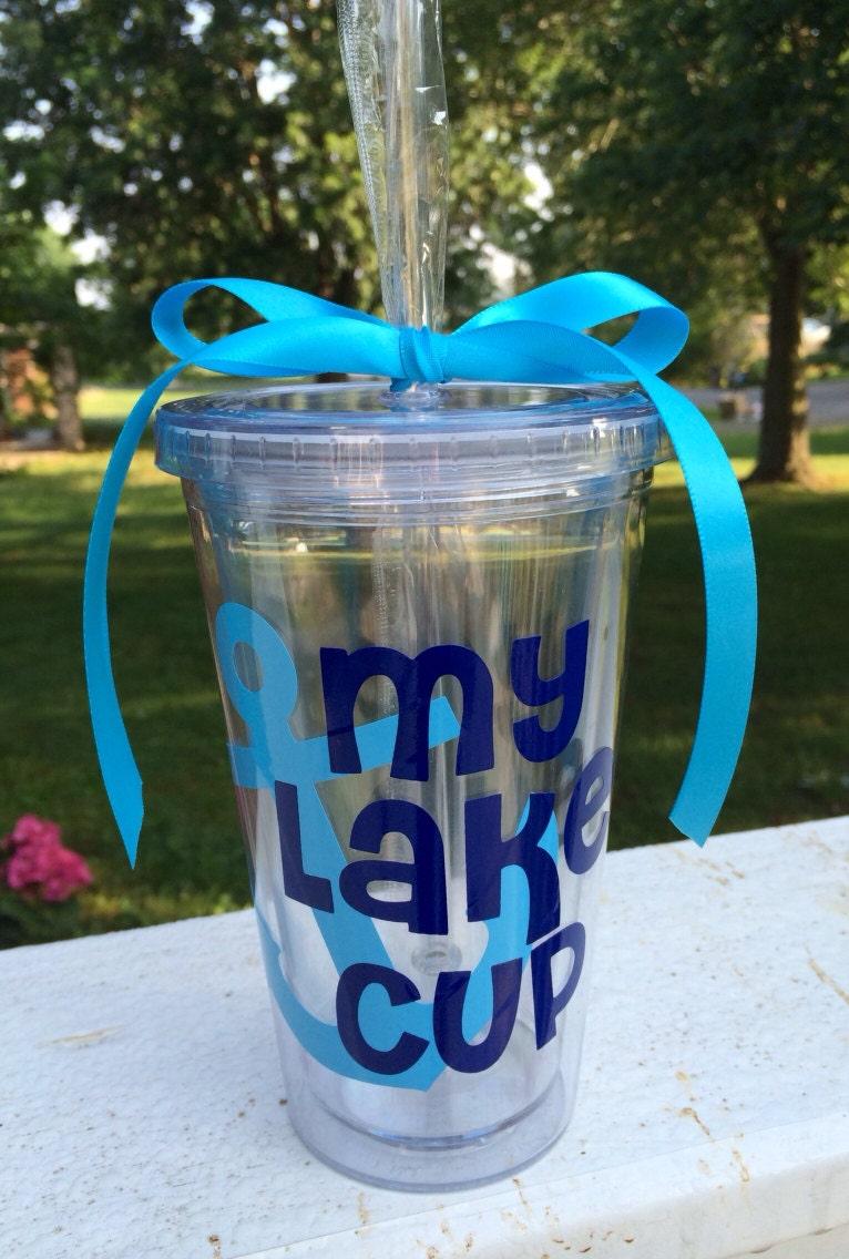 My Lake Cup Tumbler 16 Oz Acrylic Tumbler Lake Cup