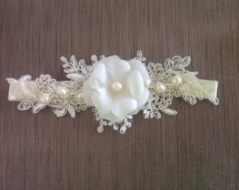wedding accessories garter - ivory garter for bride - lace wedding garter