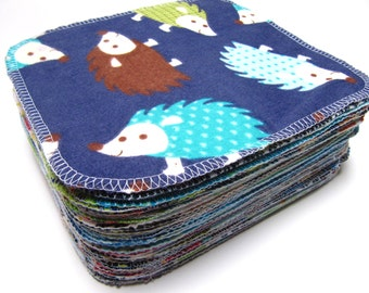 Cloth Wipes, Cloth Diaper Wipes, 40 Boys Mixed Prints, Eco Friendly Wipes, Reusable Cloth Wipes, Family Cloth
