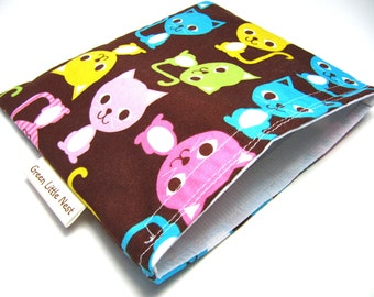 Reusable Snack Bag, Urban Cats Sandwich Bag, Waste Free Lunch Option, Eco-Friendly Snack Bag, Girls Cat Snack Bag