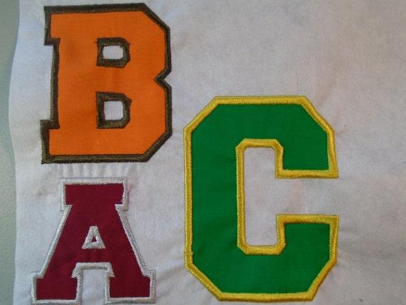 Varsity Letter Applique Varsity Font Or Alphabet Letter2 Tall Iron On Or Sew