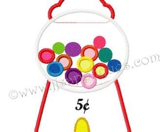 Instant Download - Arcade Designs Gumball Machine Embroidery Applique Design - Gumball Machine 4x4, 5x7, 6x10 hoop sizes