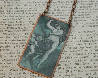 Gaia necklace Gaia jewelry wearable art World Mythology