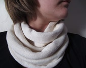 Sale - Ivory Knit Infinity Scarf With Flaw