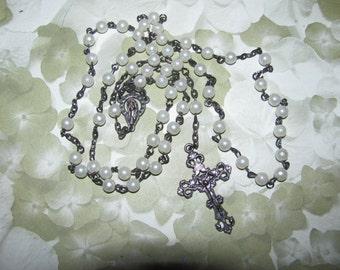 Destash Vintage White Rosary Beads