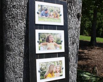 Triple 4 x 6 Frame, Black & White Frames, Photo Collage, Triple Frame,