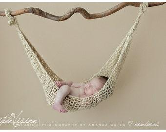 Newborn Hanging Hammock Style Crochet Photo Prop