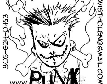 Full set of eight limited prints by Punk Guy Comics