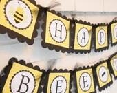 Happy Bee Day banner, Happy Bee-day banner, Bee-day, Bee Day, Bumble bee theme Happy Birthday banner
