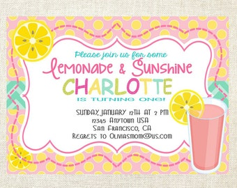 Pink Lemonade Invitations