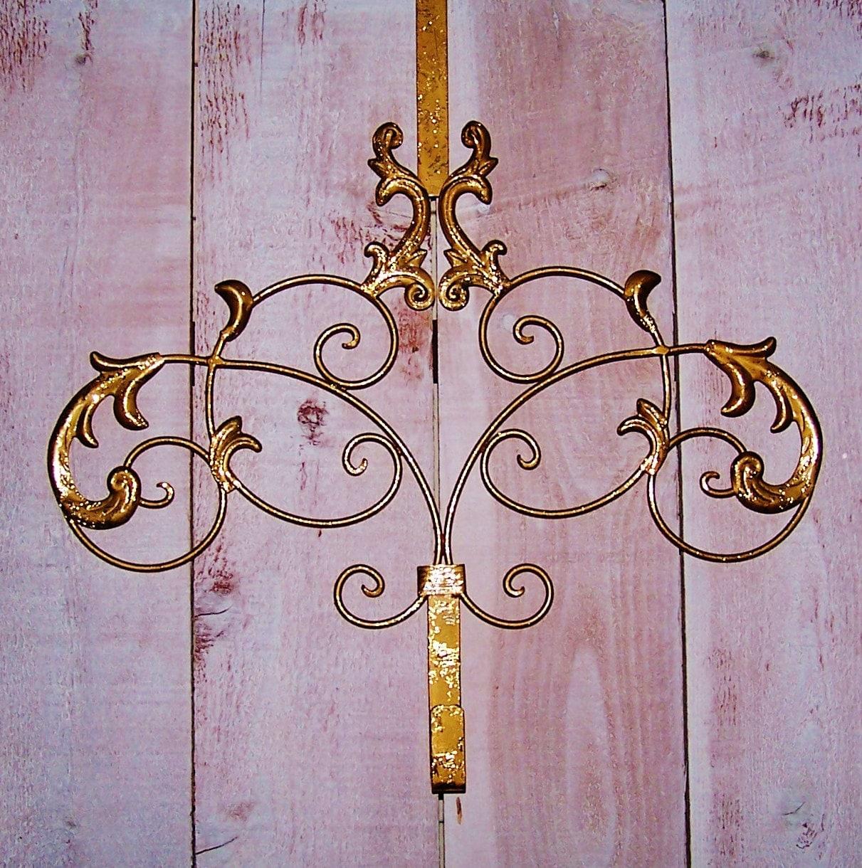 Custom Antiqued Gold Scroll Door Wreath Hanger Front Door