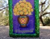 Loteria Day of the Dead Matchbox, Los Novios (Newlyweds), El Cempasuchil (Marigolds)
