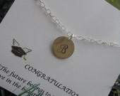 Personalized Bracelet, Graduation Gift, Sterling Silver Bracelet, Initial Bracelet, Gifts for Best Friends,Graduation Card,Personalized Gift