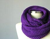 SALE, Women scarves, Cowl Scarf, Neck Warmer, Purple winter - fall women accessories, chunky scarf, infinity scarf, knit scarf