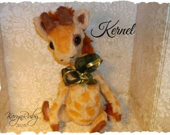 PDF EPattern  to make 10 inch Giraffe 'Kernel  Vintage Style  Mohair / Viscose by Artist KarynRuby