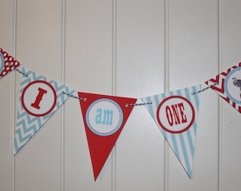 VINTAGE CIRCUS Highchair Banner 1st Birthday Party - Party Packs Available