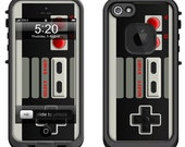 Lifeproof iPhone 6 Fre, LifeProof iPhone 5 5S 5C Fre Nuud, Lifeproof iPhone 4 4S Fre Case Decal Skin Cover - Classic Retro Controller