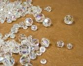 Vintage Aroura Borelis Crystal Beads ,275 Pieces, Jewelry Supplies, Destash, Repurpose