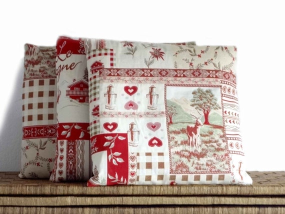 Mountain pillows, decorative pillow, cushion case, folk cushions