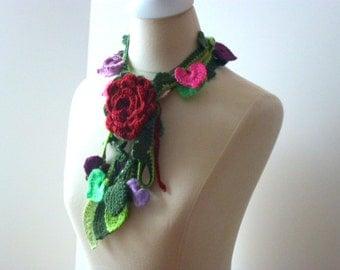 Floral scarf ,fashion,unique,no.11