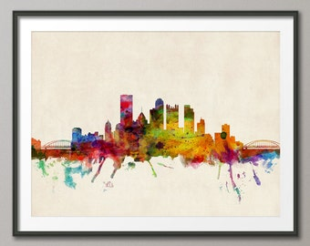 Pittsburgh Skyline, Pennsylvania, Art Print (545)