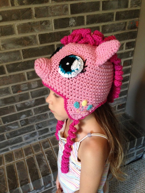 Pinkie Pie My Little Pony crochet hat size by TaeTaesCrochet