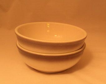 Pair Vintage Homer Laughlin Best China Restaurant Ware Bowls Grey Airbrushed Rim