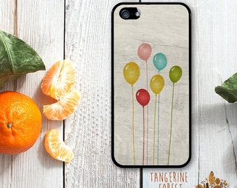 Whimsical Floating Balloons. Available for iPhone 4/4s, 5/5s, 5c, 6/6s or 6+/6s+