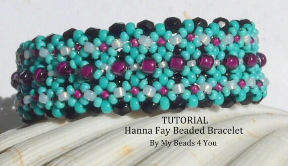 PDF Beadwork Tutorial,PDF Beadwoven Bracelet Tutorial,Embellished Bracelet Pattern,Beading Instructions,Seed Bead Tutorial,Beadwoven Pattern