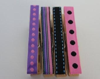 Ribbon Clothes Pin Push Pin
