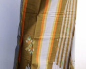 SALE mens sarong khaki green and orange stripe 6A