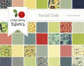 Social Club Layer Cake by The Comstocks for Moda - One Layer Cake - 37090LC