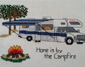 "PATTERN - Camping Counted Cross Stitch - ""Class C - Home is by the Campfire"""