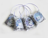 Lavender Sachet Ornaments -Snow family - set of 4 christmas decor